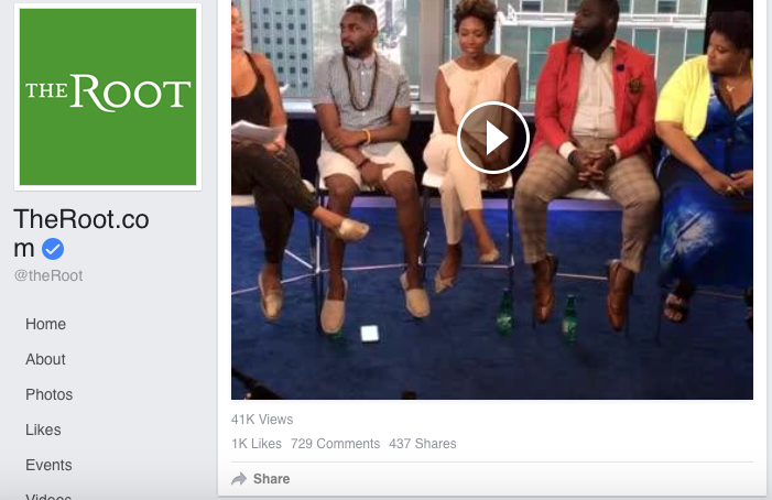 THE ROOT : FACEBOOK LIVE                                                                                                        July 2016