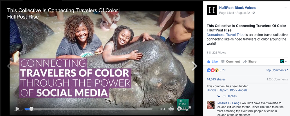 HUFFINGTON POST BLACK VOICES : This Collective is Connecting Travelers of Color                                                    August  2016