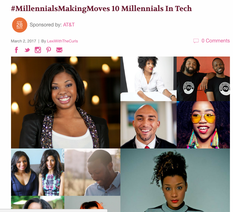 MadameNoire.com     ::  Millenials Making Moves in Tech                                    March 2017