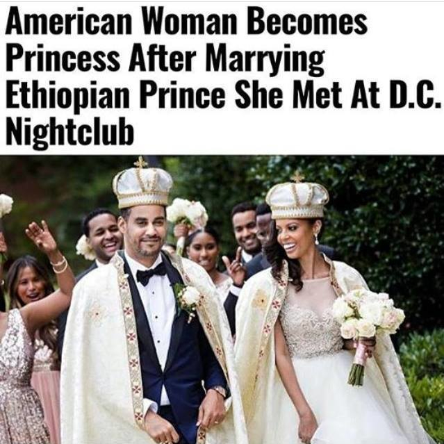 """She's your Queen to be..."" You can't read this headline and not think about Coming To America. Congratulations to the newlyweds. 💍"