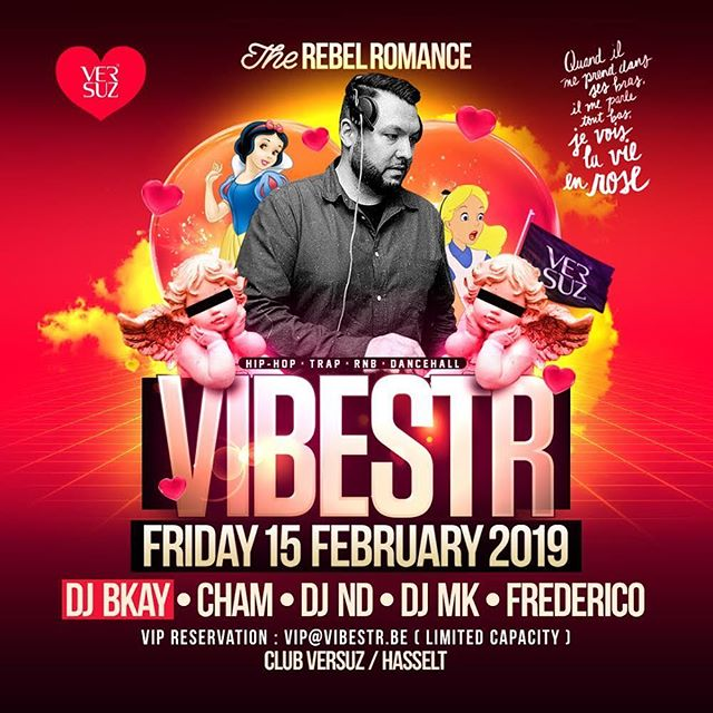 How's your weekend looking? Join the fun this Friday @vbstrlife in @clubversuz (Hasselt) with the homies @dj.frederico @deejay_cham @deejaynd & dj MK for the Rebel Romance edition! On Saturday the @lust.nights family is back in business with the champ @madfingaz behind the decks! 🔥🔥🔥#vibestr #hasselt #lust #lustnights #oostende #dj #party #redbullthre3style