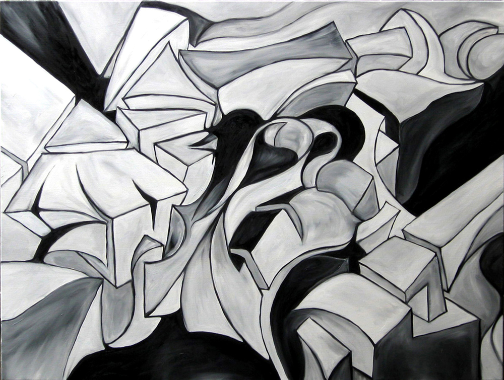"""The robot dream""   48 x 36   (2011)"