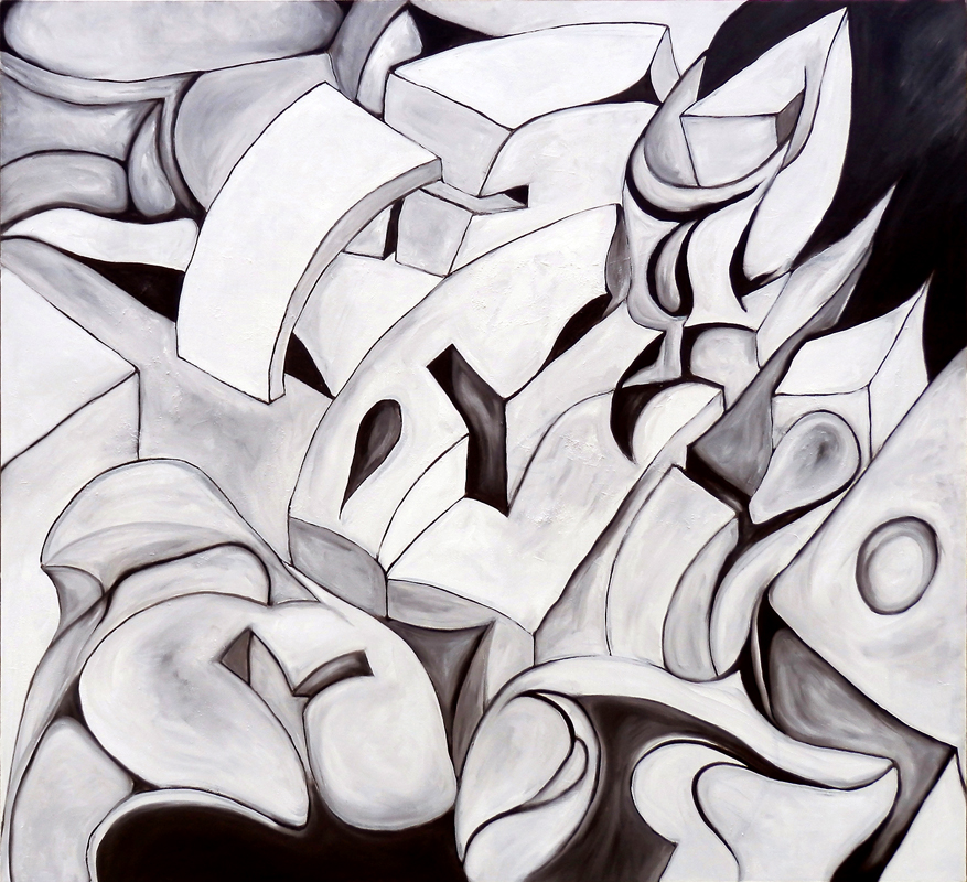 """""""Uncertainty""""  40"""" x 44""""  (2012)"""