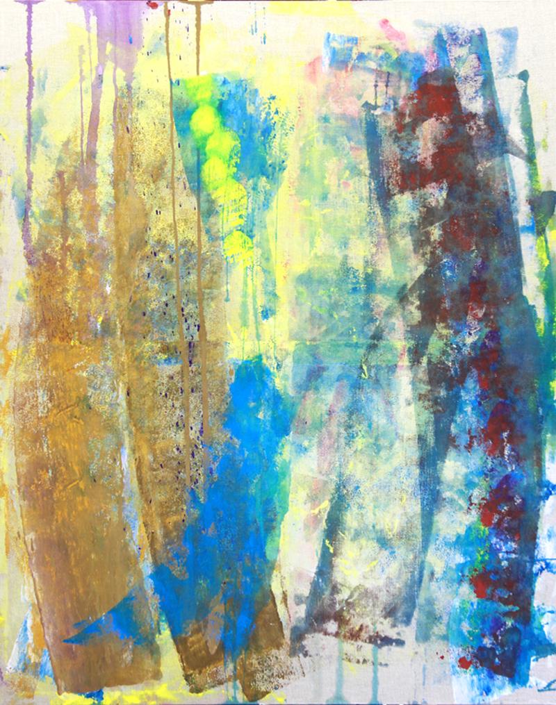 """""""Jim Morrison""""  color jesso on linen  4' x 5'"""