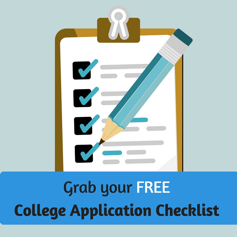 free college application checklist