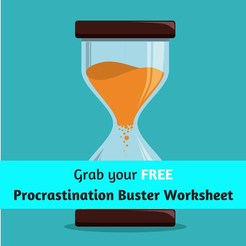 procrastination buster worksheet