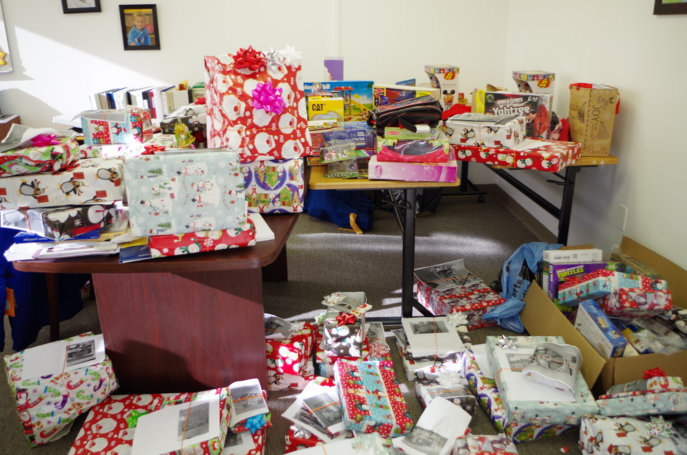 Each December, the CASA office and training room turns into an outpost of Santa's Workshop-- solely for children in foster care!