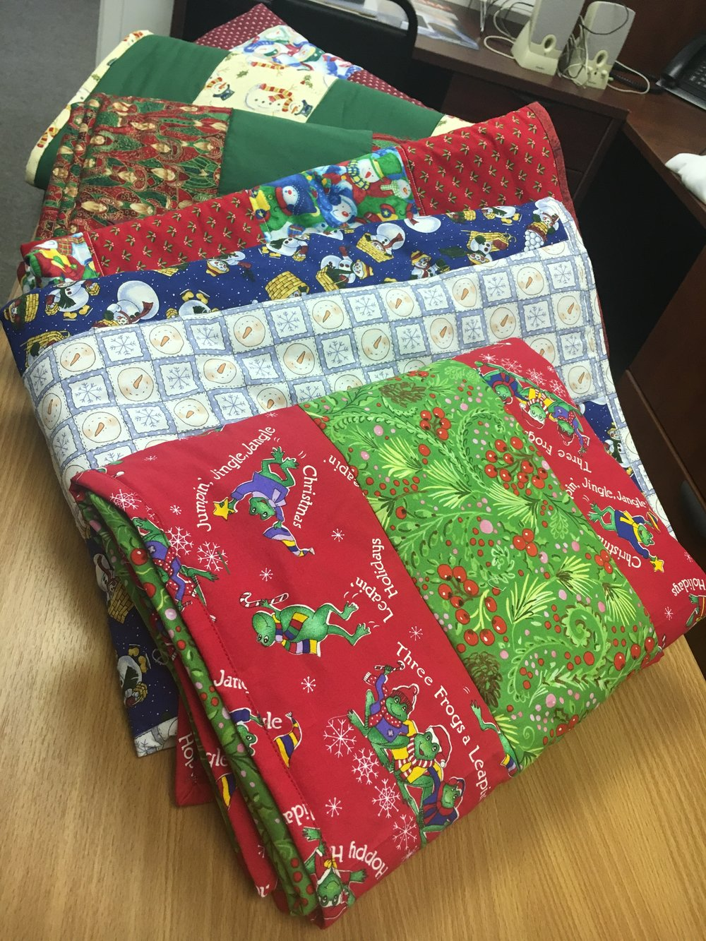 Handmade quilts from Quilting for a Cause New Jersey