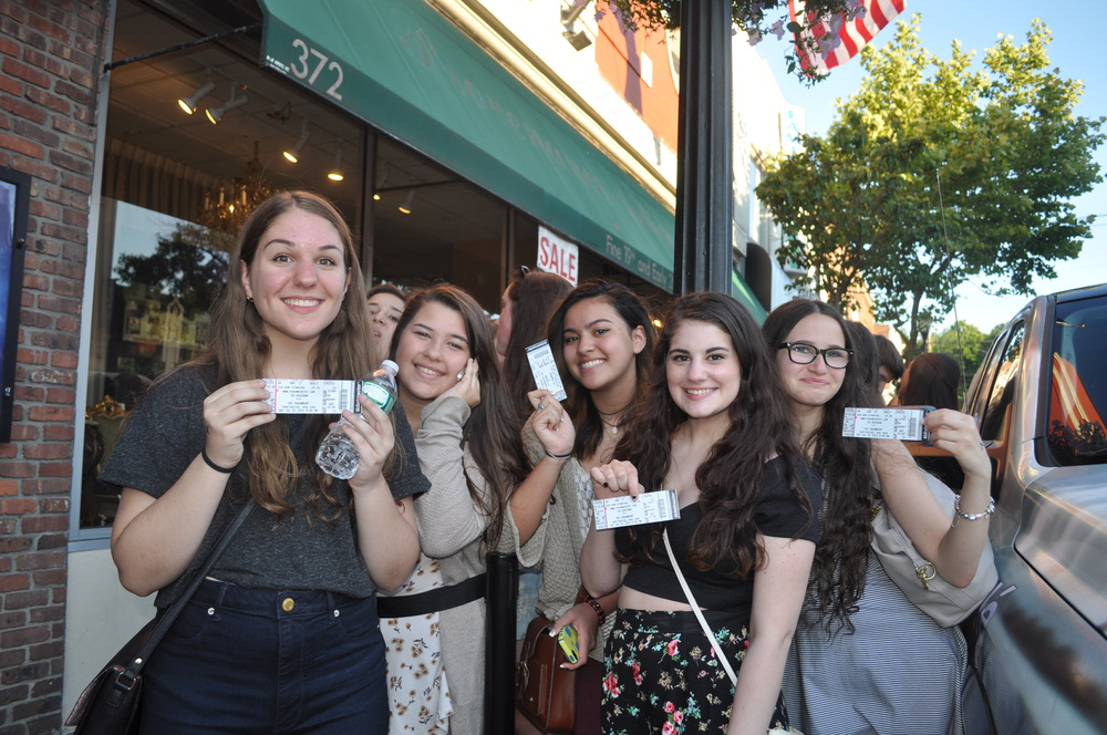"These happy ""Sheerios"" show off their tickets for the surprise Ed Sheeran gig!"