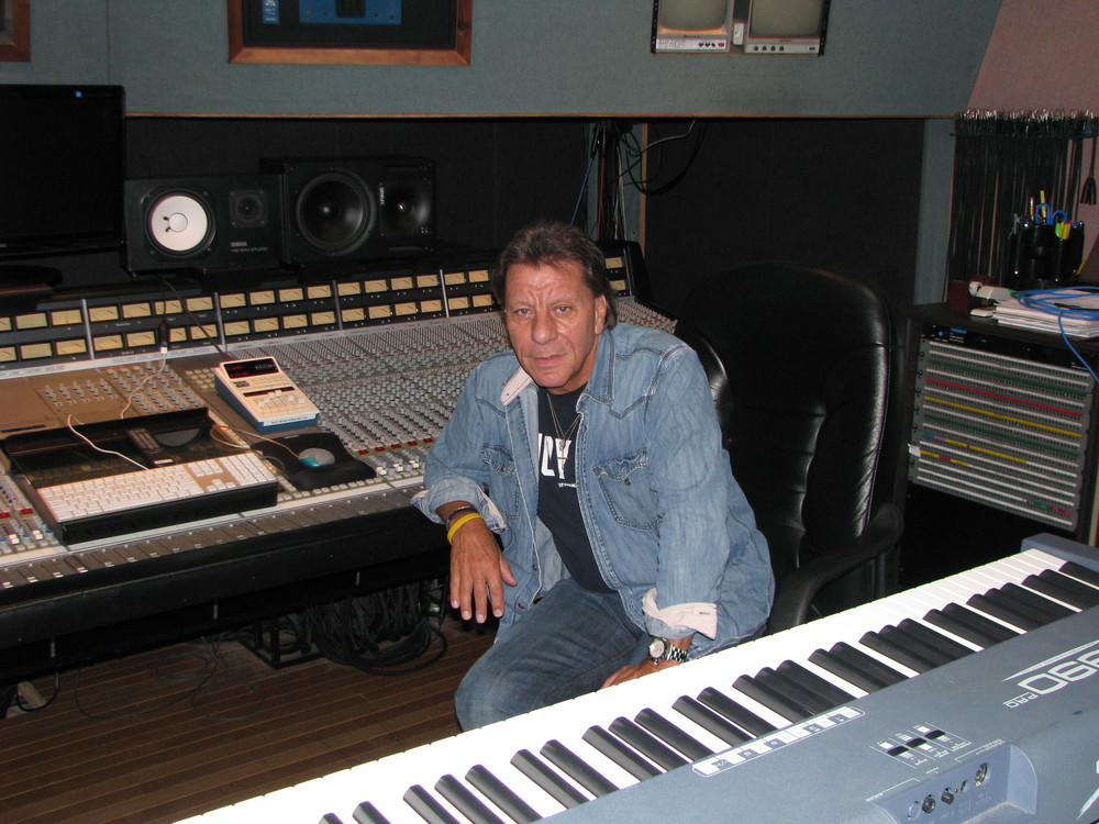 Richie Cannata in his Long Island music studio.