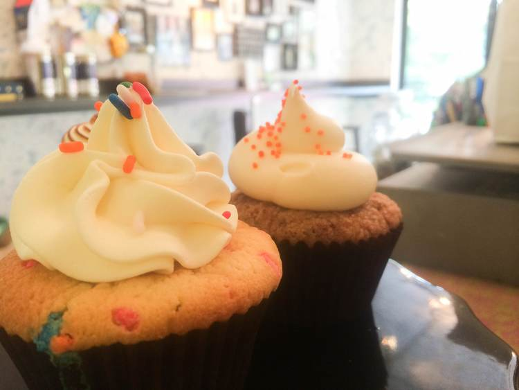 Blondie's Bake Shop offers cupcakes and other treats like cookies and brownies. There are also gluten-free options.