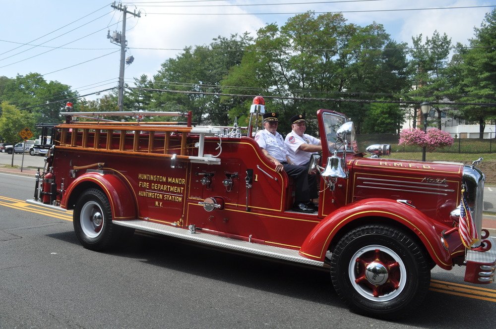 Huntington Manor Fire Department's vintage truck turned heads.