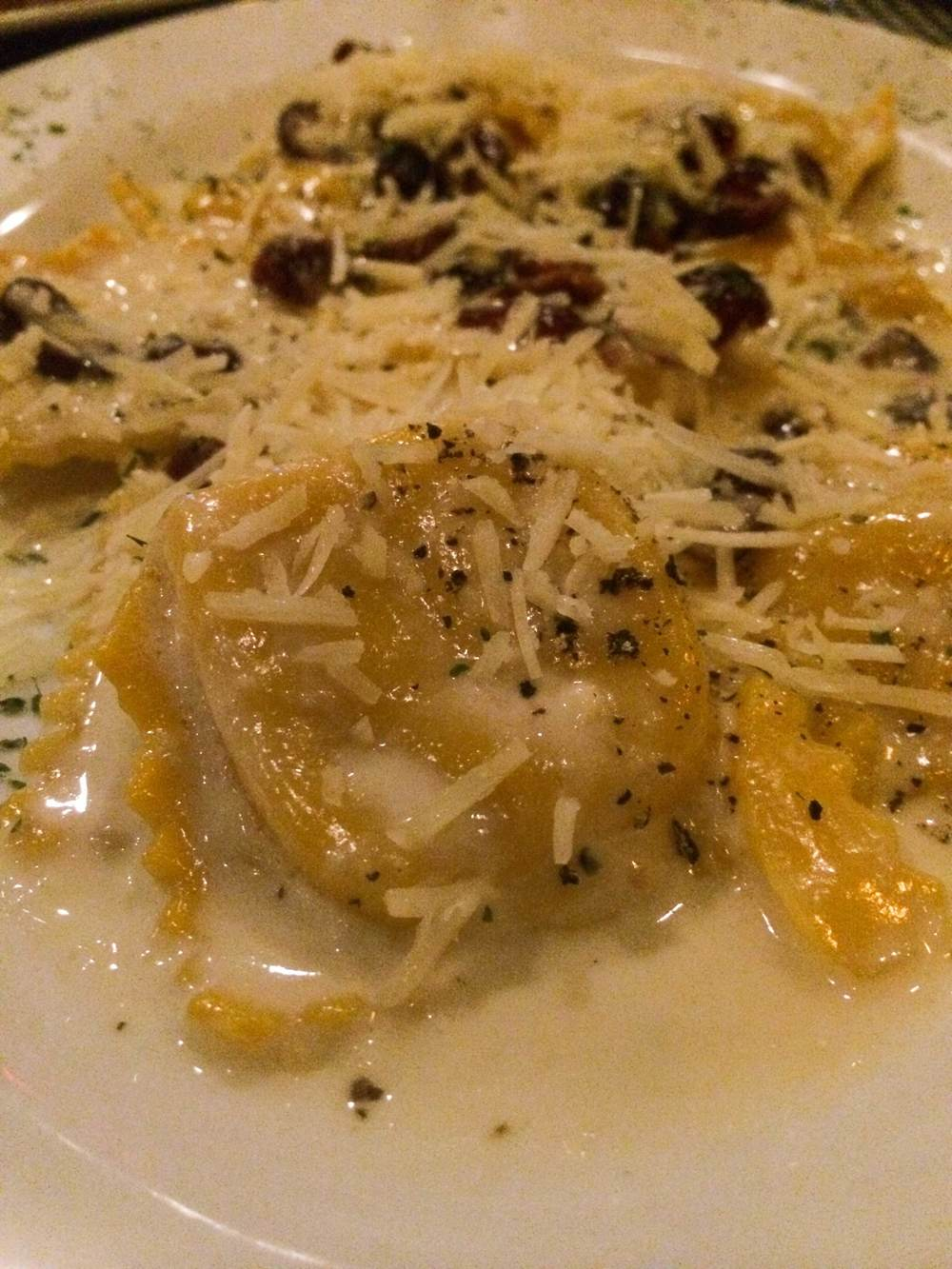 The Butternut Squash Ravioli ($21), mentioned above.
