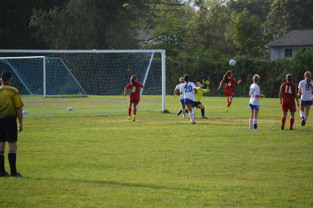 Hills West senior Arianna Sabatino gives the Colts the lead with less than 5 minutes remaining in last Thursday's League III opener.