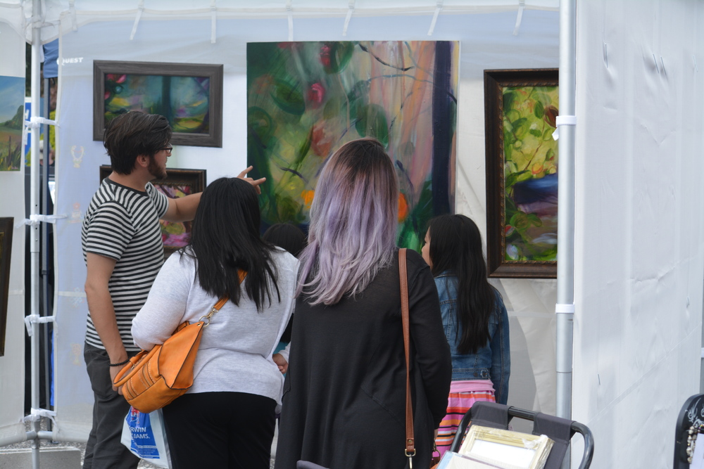 The SPARKBOOM event welcomed local artists.