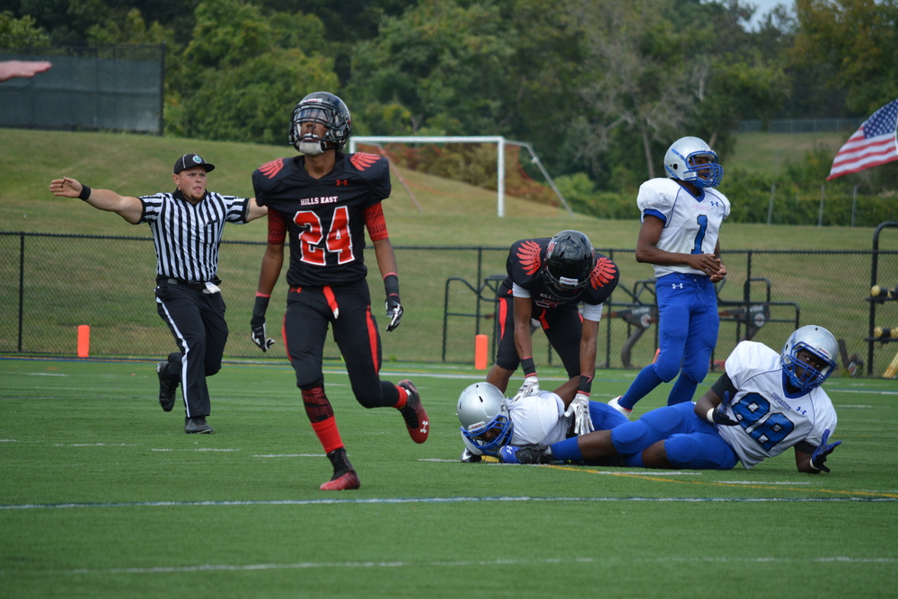 Defense wins championships, and the Thunderbirds took that sentiment to heart here as Hills East's defense recorded one of its many stops in Saturday's homecoming showdown against Copiague.