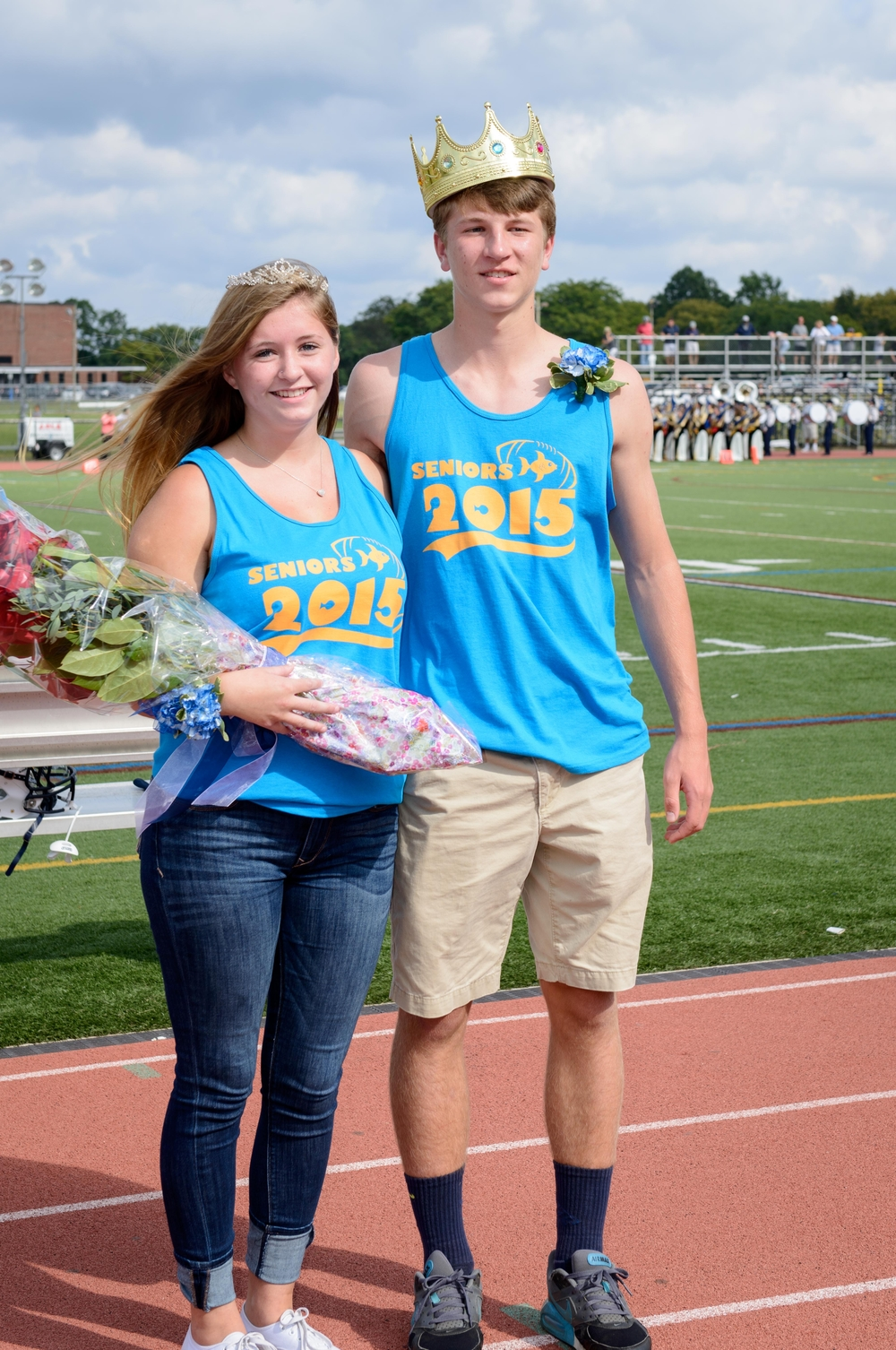 Homecoming Day King and Queen Joe Saginaw and Sydney English.