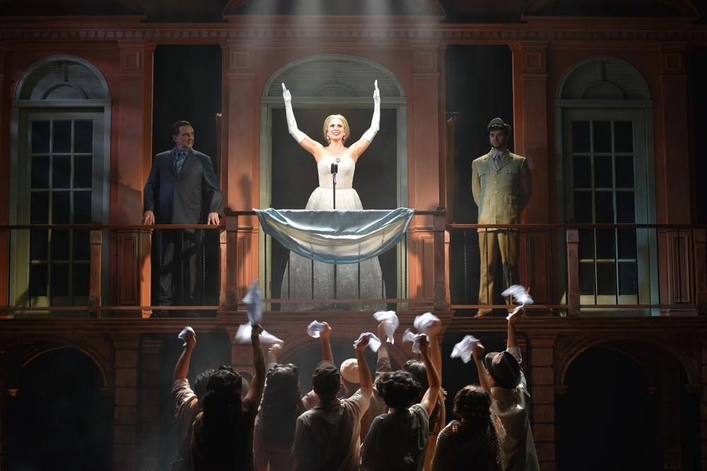 "Janine Divita dazzles as Eva Peron in Engeman Theater's ""Evita."""