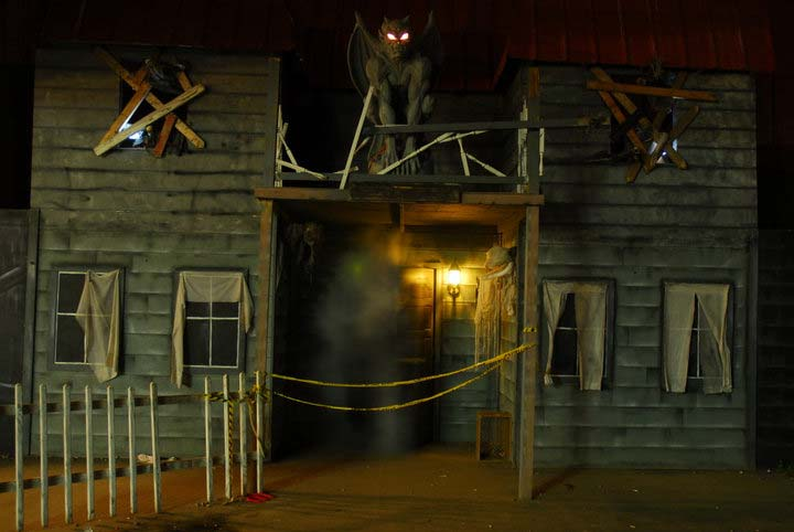 The haunted house which operates every Halloween season (and changes every year) at Melville's Schmitt's Family Farm. Enter - if you dare! (Photo / www.schmittsfarm.com )