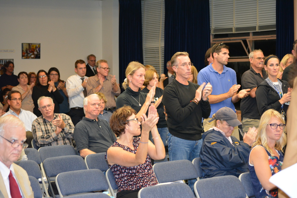 Applause from the crowd on Oct. 15 was not uncommon as several parents, teachers and other taxpayers voiced their concerns with the way the district is handling the audit.