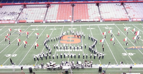 The marching band racked up six straight regional wins in 2014 leading up to the state title. (Photo by Darrin Reed)