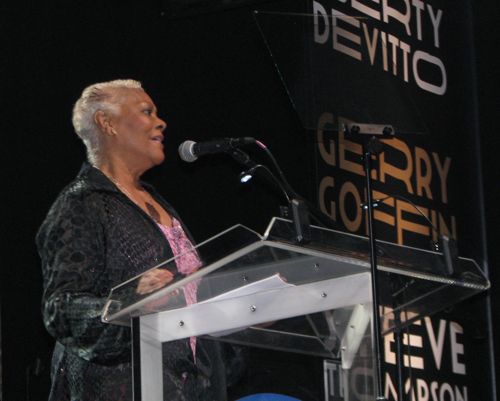 Dionne Warwick was in the house to introduce her friend, inductee Clive Davis.