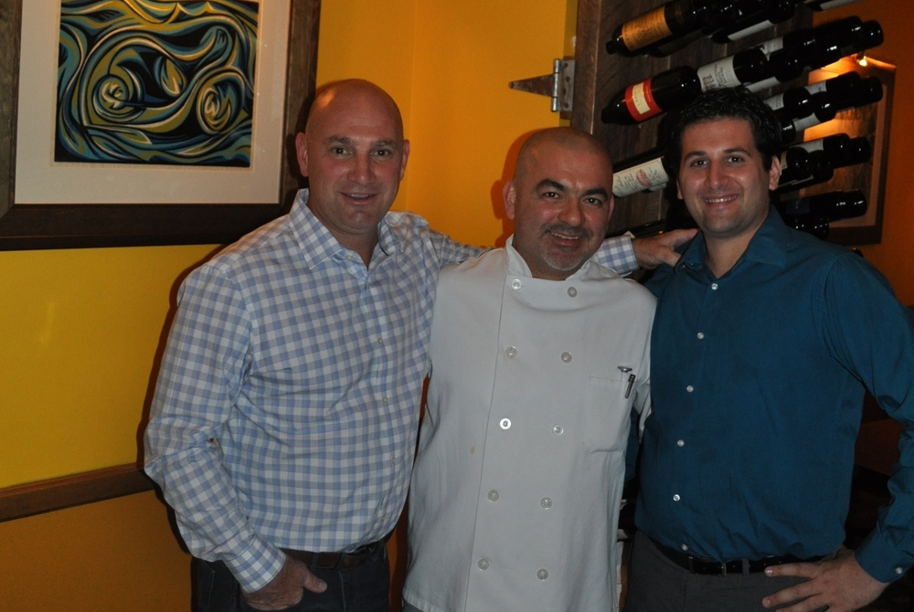 Ruvo owner Joe DeNicola, chef Wilmer Bedoya and manager Ryan Doino in the homey trappings of the Greenlawn restaurant.