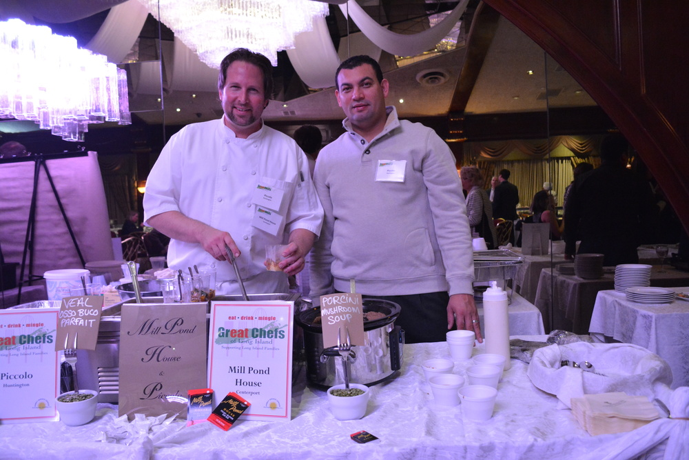 Representing Mill Pond and Piccolo, Andrew Crabtree and Miguel Villatoro serve foods in rich browns and greens.