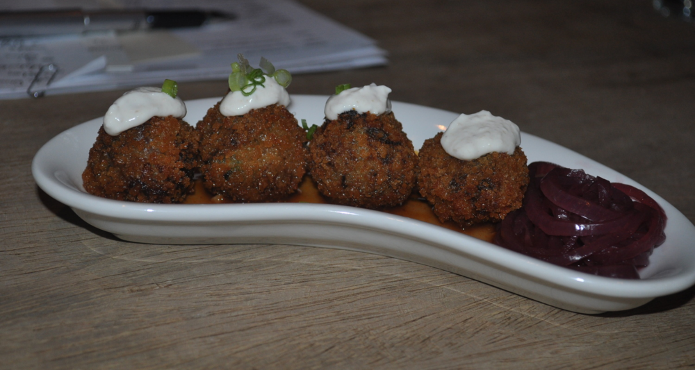 You'd never know that short rib cakes were baked unless we told you.