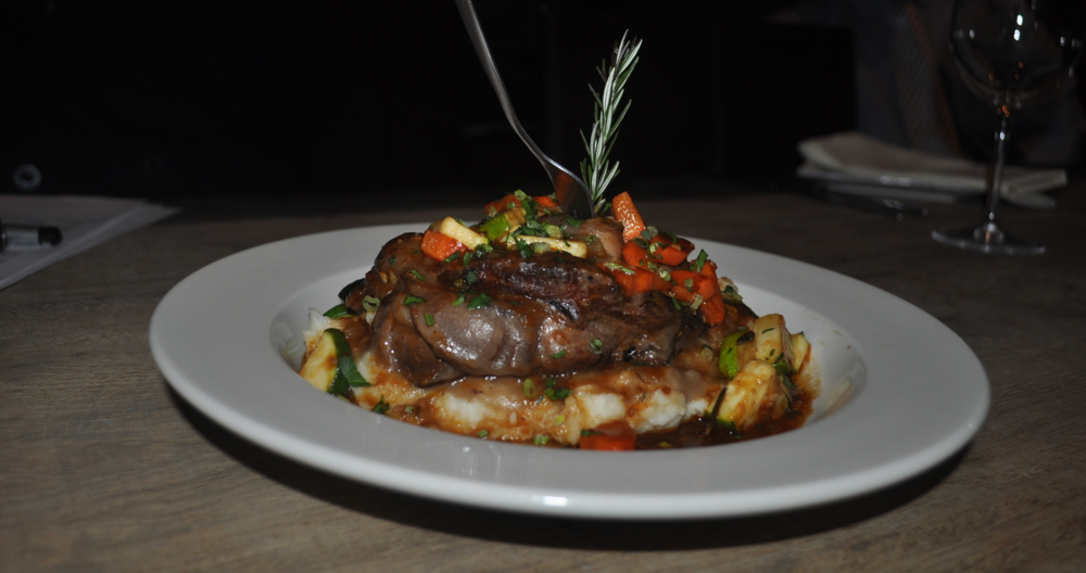 Veal Osso Bucco falls off the bone.
