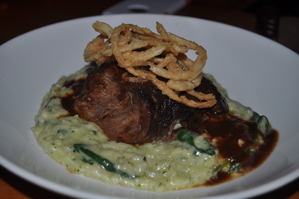 No knife? No problem! Succulent short Rib Risotto is fork-tender.