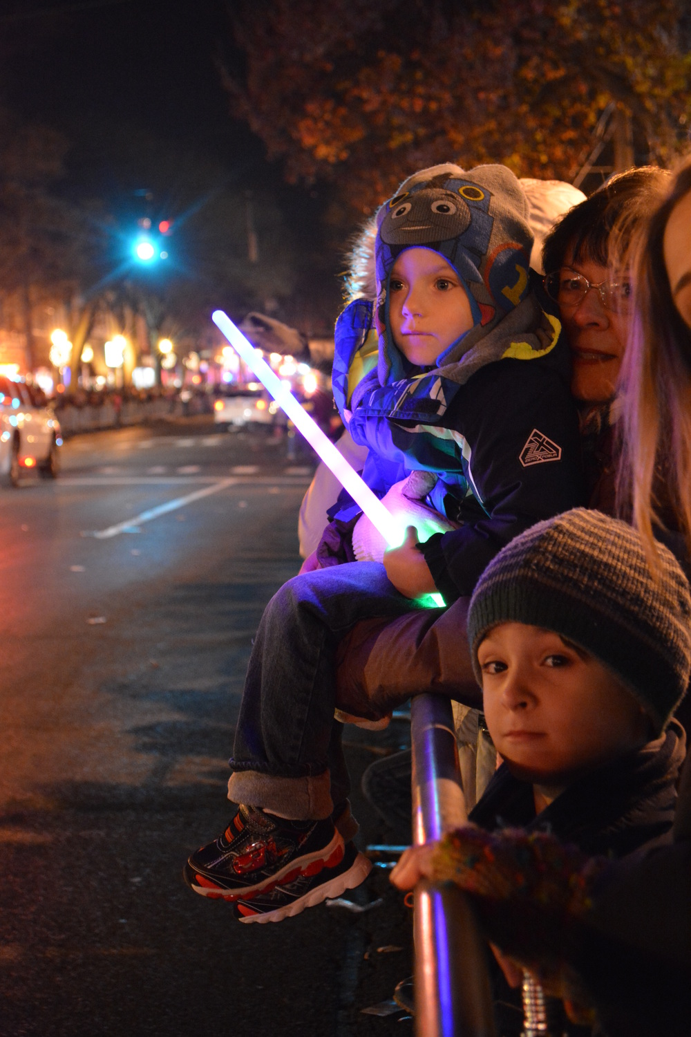Children watched intently as floats came down Main Street.
