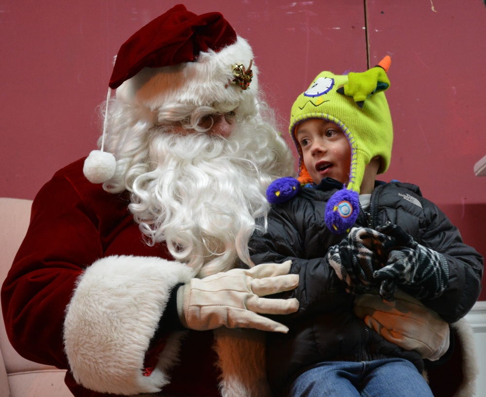 Children sat on Santa's lap to talk about what they wanted for Christmas.