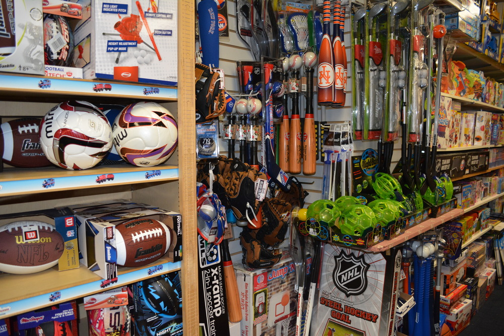 Along with autographed memorabilia, Cow Over The Moon Toys & Sports Memorabilia also offers sporting equipment out of its 282 Main St. location in Huntington village.