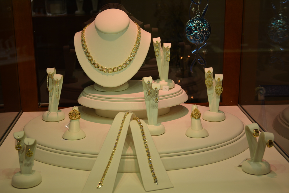 Just a few of the many pieces of jewelry available to customers of Frassanito Jewelers at 346 New York Ave. in Huntington village.