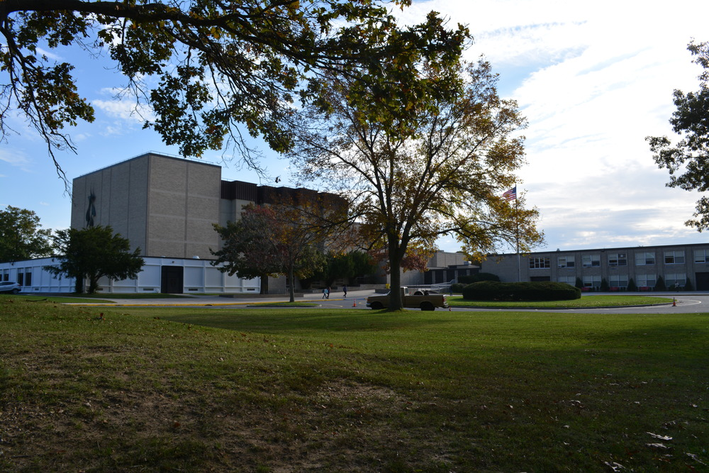 "A police officer has been assigned to ""maintain a presence"" at Hills East until reassessment at a later date. (Long Islander News photo/ Arielle Dollinger)"