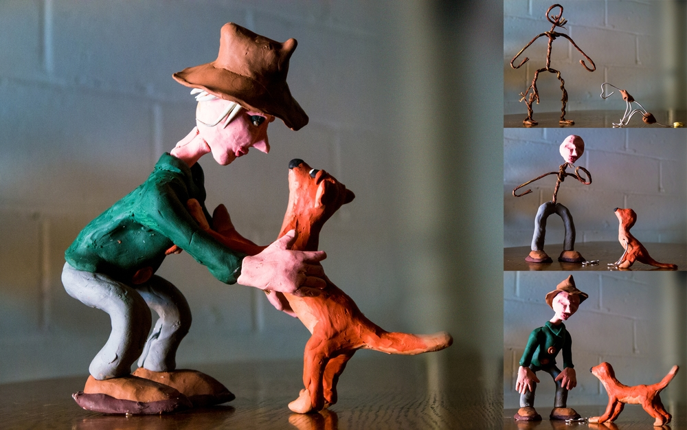 Here is an example of a Claymation Workshop for Kids character creation figure. (Photo/TPeterson 2014)
