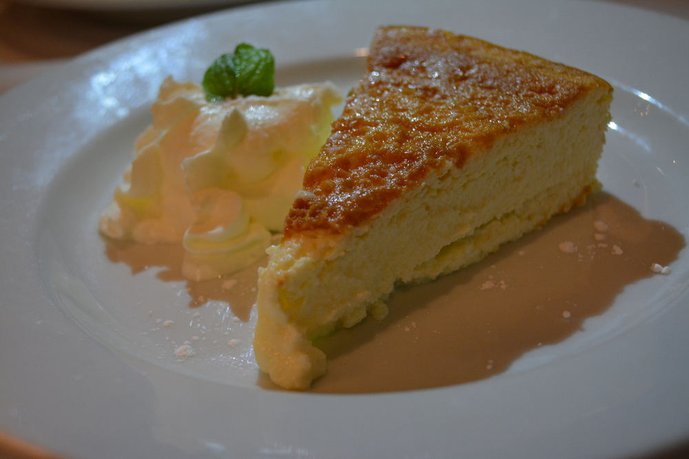 The Italian cheesecake is sweet and creamy.