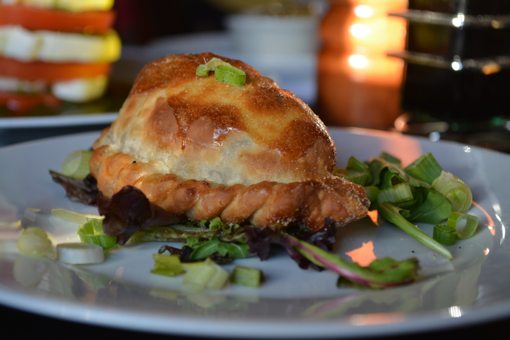 An empanada at Sur Argentinian Steakhouse     (314 New York Avenue, Huntington, 11743. 631-470-6300).  Long Islander News photo/ Arielle Dollinger