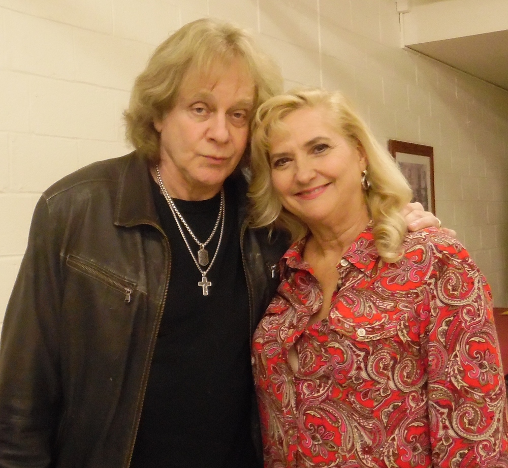 "Eddie Money with Helen Proimos, a longtime fan from Dix Hills who will play his mother in his autobiographical musical, ""Two Tickets to Paradise."""