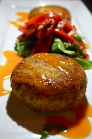 Crab cakes ($13) are not on Almarco's dinner menu, but they are worth asking for.