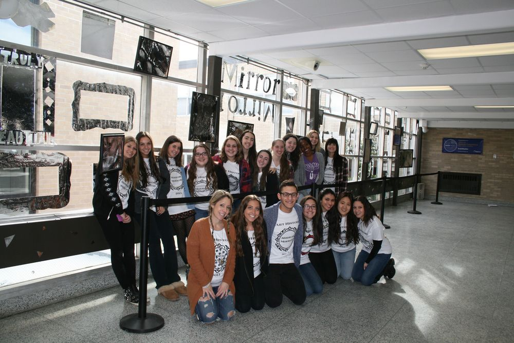 "The AP Art History class at High School East installed ""Mirror Mirror"" on Jan. 9."