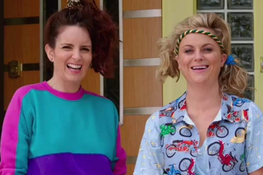 "Tina Fey and Amy Poehler star in ""Sisters,"" shown in the trailer. The movie has filmed in Dix Hills and may soon film in Huntington village."