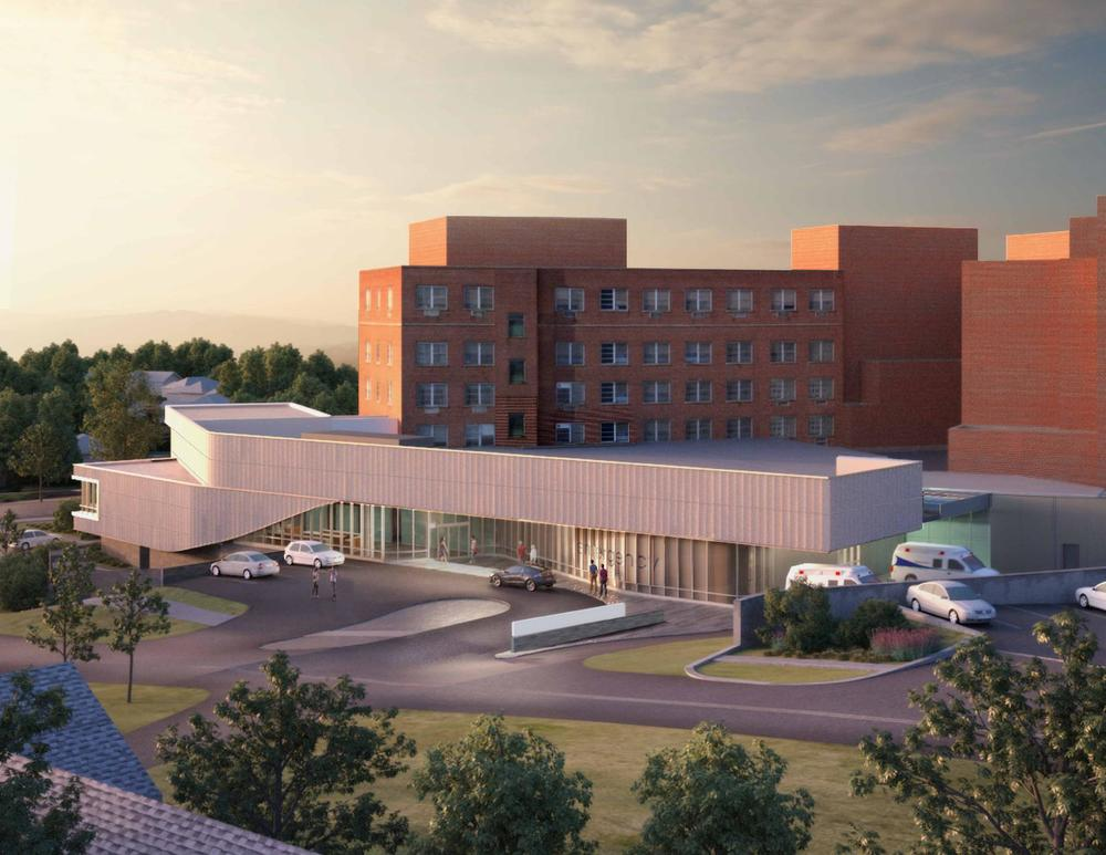 The finished, approximately 24,000 square-foot emergency room is expected to cost $50 million and is to open in 2016.