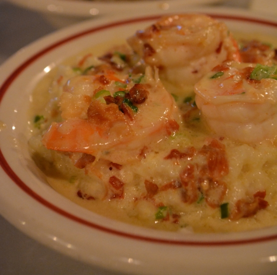 The shrimp and grits will leave you thinking about grits days later.
