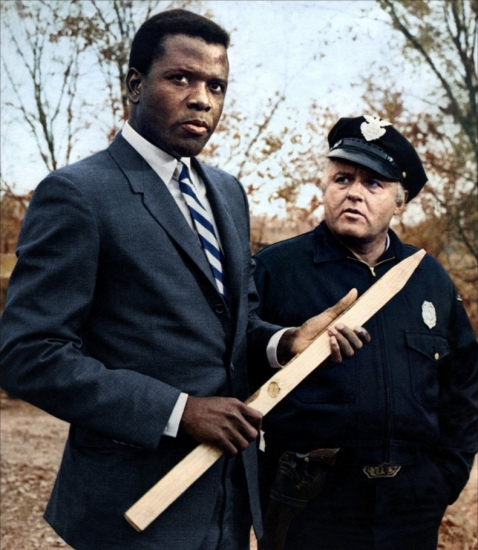 "Sidney Poitier and Rod Steiger in ""In the Heat of the Night."" Poitier is the subject of a Black History Month event at the Cinema Arts Centre this month. (Photo/United Artists)"