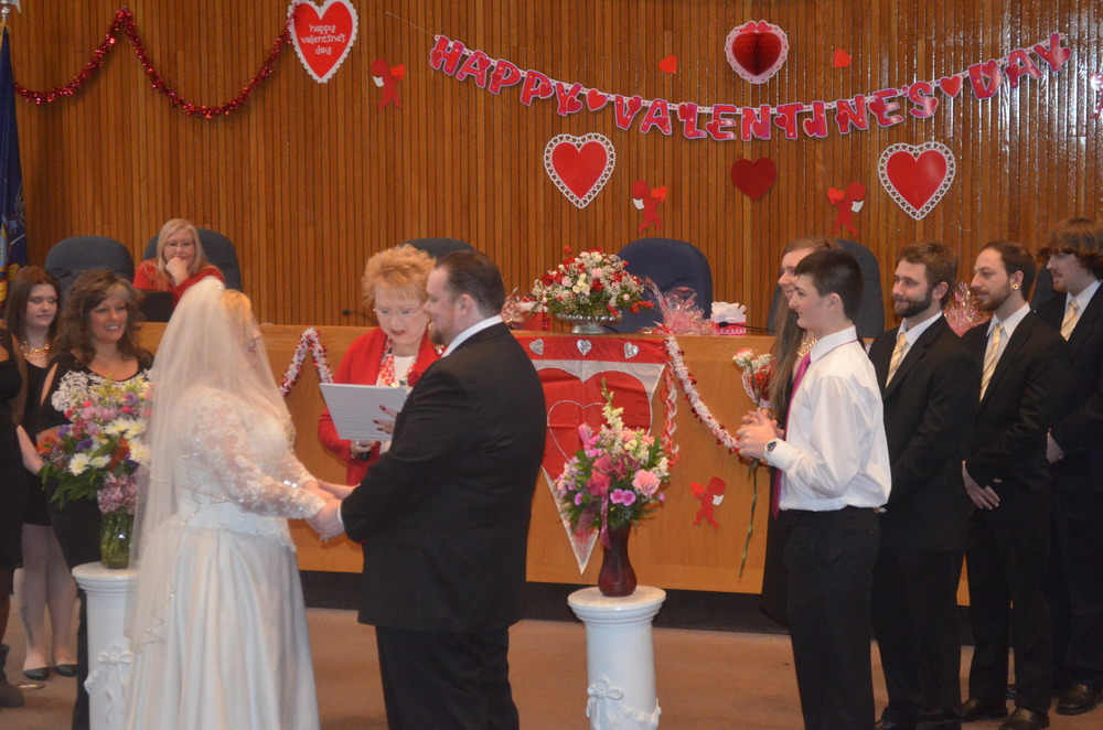 Town Clerk Jo-Ann Raia is Cupid's right-hand woman this Feb. 14, when she'll host her annual Valentine's Day marriage marathon at Town Hall. (Long Islander News photo/archives)