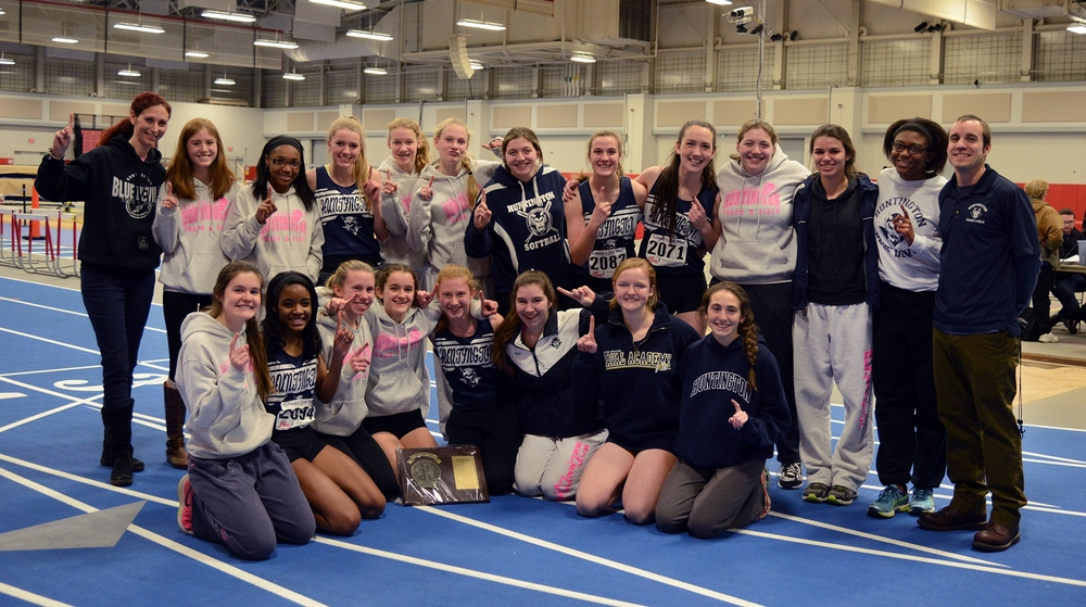 There was much to celebrate after the Huntington girls track team won the Suffolk crown.