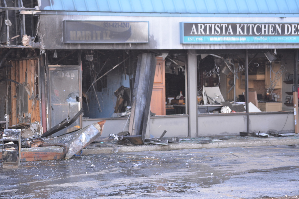 Following a devastating fire early last month, the newly renovated Hair It Iz Salon was destroyed, along with several other shops in a Jericho Turnpike strip mall.