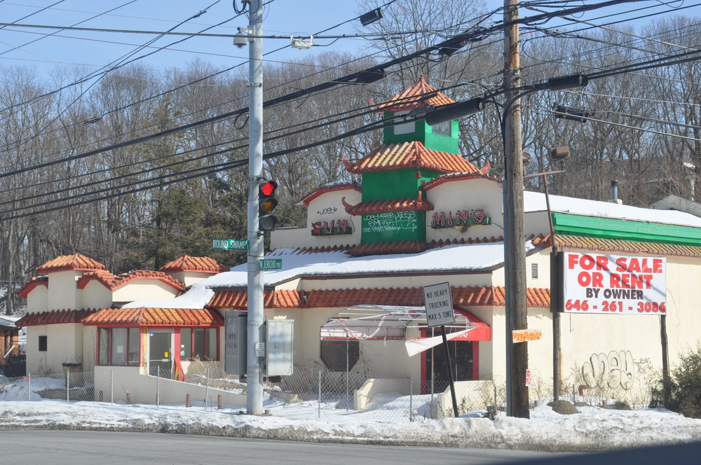 A hearing to weigh whether the former Sun Ming restaurant, pictured Monday, should be added to the town's blight registry is coming up in March.